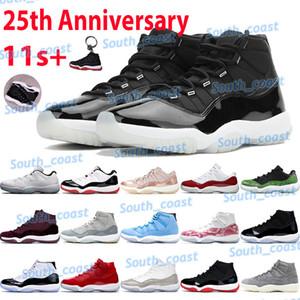 2021 scarpe da basket 11 11s 25 ° anniversario Bred spack Jam Pantone vincere come 96 Concord Legend Blue Bax Cherry Barons Sneakers da uomo