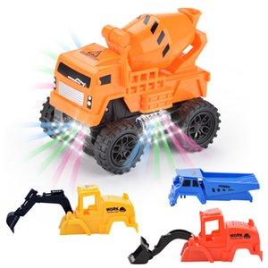 Kid için Değiştirilebilir Kabuk Dört Stiller Model Araba City İnşaat Toy ile Yeni Elektrik Evrensel Kamyon