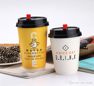 Disposable Anti-hot Coffee Paper Cup Coffee Milk Take-out Cup Double Layer Disposable Water Coffee Cup