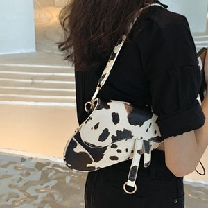 Lady Bag 2020 Nouvelle vache Texture Sac Underarm Minority une épaule Sac de selle American Retro Oblique Sac à main