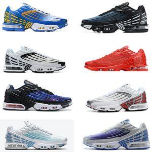 Plus 3 Nuovo Mens scarpe da corsa TN Inoltre 3 formatori Tuned ultra tripla nero INVERSO TRAMONTO Antracite sneakers di gioco reali Hornets sport delle donne