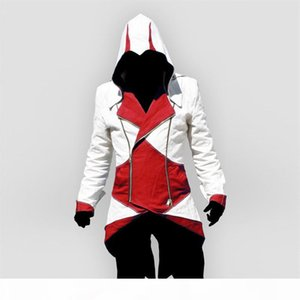 assassins creed Halloween Costume Adult Men Casual Streetwear HoodedOutwear Costume Edward assassins creed cosplay Jacket Coats