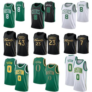 NCAA جيسون 0 تاتوم Kemba 8 وكر باسكال 43 Siakam فريد 23 VanVleet كايل لوري 7 TRAE 11 الشبان كلية كرة السلة جيرسي