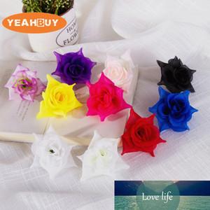 15pcs 4см 9colors искусственного шелк чайной роза соцветий для поделок броши украшения аксессуара для волос свадебного дома ремесла реквизита