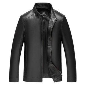 Loozykit de invierno para hombre chaquetas de cuero genuino de la marca Real 100% de piel de oveja jaqueta chaqueta de cuero genuino masculino para hombres y200109