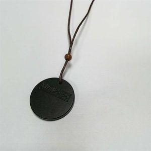DHL LAVA Taş Kolye Kolye Skaler Sağlık Enerji Kuantum Kolye Ile Negatif İyon Enerji Doğal Taş Kolye Siyah Jewelr 80 O2