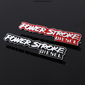 Creative 3D Metal Car Sticker Chrome Emblem Badge Decal for Ford F-150 F150 Power Stroke Diesel Focus Fiesta Kuga Escort BMW KIA