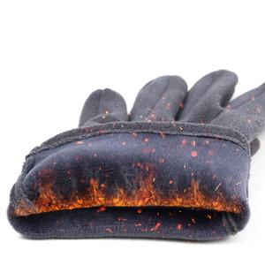 Luvas Homens Inverno Tela Luvas toque luvas quentes de dedos completos Luva Moda Plush Dentro luva Casual Sólidos pulso Mittens EWD2114