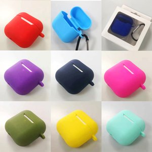 For AirPods Pro 4 Case Simple solid color silicone Earphone Cover fundas For Airpodding Pro 4 TWS Headphone Protective Cover