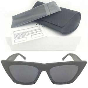 Futuristic CL 41468 Marke UV400 farbige schwarze Tönungen Retro Sonne Rechteckige seltsame adumbral wrap acetat sonnenbrille schwarz 2020 designer groß