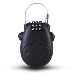 Universal Password Lock Telescopic Wire Rope Steel Cable Code Lock Suitcase Car Sled Motorcycle Helmet Password Locks