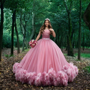 Sweet 16 Pink Quinceanera Dresses Off Shoulder Ruched Ball Gown Sweet 15 Dress Prom Gowns vestido de 15 anos quinceanera gown