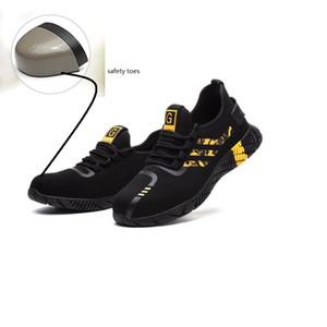 سلامة الحذاء الصلب اصبع القدم كاب رجال الرياضة في الهواء الطلق المشي لمسافات طويلة العمل تريل تنفس أحذية واقية الأحذية المدربين انفجار المضادة للدروع أحذية