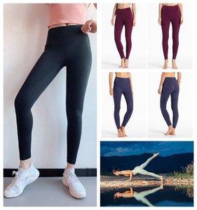 lulu Lululemon lu lemon femmes des 25 empilés 28 31 salopette de fitness pantalons élastiques de femmes gymnase de lou yoga séance d'entraînement de diseño complet collants XS-XXL
