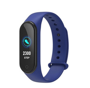 Cheapest M4 Fitness Smart Bracelet IP67 waterproof Heart Rate Monitor Sleep monitoring smartwatch Wristbands Detachable