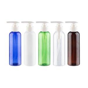 200ml x 30 High Quality Heart Shape Lotion Pump Bottles Clear Blue Green Amber Colored PET Bottle For Shampoo Toner Liquid Soap