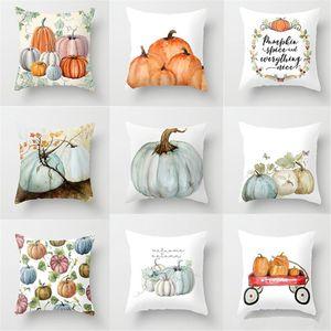 Halloween Throw Pillow Covers Pumpkin Castle Bat Theme Sofa Home Decor Polyester Throw Pillow Case Cushion Covers