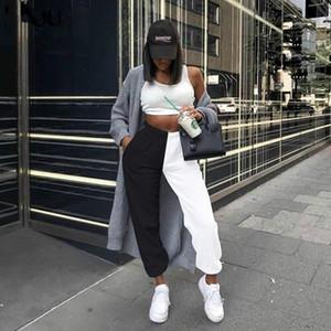 Kadınlar Egzersiz Pantolon Yüksek Bel SiyahBeyaz Patchwork Sporty Harem Pantolon Yaz Kadın Gevşek Rahat Sportif Streetwear Pantolon 123