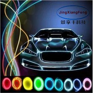10 colors car accessories Styling 5M flexible neon light glow EL With 12V interior lights lighter DIY Decorative Dash Door