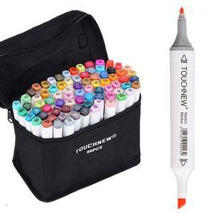 60 Set di colori TouchNew 6 Schizzo Bambini Pittura Evidenziatore Sottolineatura Sottolinea Pens secondari a base di alcool1
