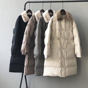 Kalın Parka Kadınlar Sonbahar Kış Giysileri Yansıtıcı Fermuar Sprey-Yapıştırılmış Gövdelik Ceket Rahat Katı Abrigos Mujer Invierno Ceket