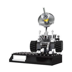 İl Yaratıcı Uzay gemisi Serisi Ay Araç Uydu Techinc Yapı Taşları Model 96pcs Eğitici Oyuncaklar İçin Çocuk Hediyeleri yxlWUZ