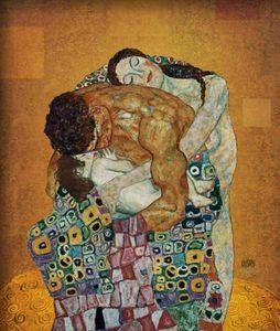 Gustav Klimt Семейный стены Deco Gentcrafts / HD печати Маслом живописи на холсте стены искусства изображения 210203