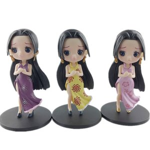 Three parts Q posket boa Hancock picture toy Hancock Q version collection model car decoration Doll
