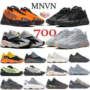 2021 Runner 700 V2 Orange Triple Черный Светоотражающий кроссовки Твердые Серый Маусе Углерод Синяя Инерция Женщины Мужчины Кроссовки Кроссовки