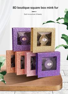 2020 New Private Label 8D False Eyelashes Label Mink 25mm Dhl Black Cotton Customized Makeup Fur Logo Band Style Time