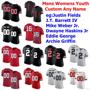 Ohio State Buckeyes Jersey Justin Fields Chase Young Haskins Jr. Eddie George Elliott JK Dobbins College Football Jerseys Custom Stitched
