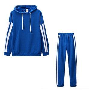 Oexn neploe 2018 Nueva Blusa de rayas Pantalones de pierna ancha Conjunto con fajas Fashion Fashion Manga Blusas Flare Pants 2 PCS Mujeres 68191 D18110706