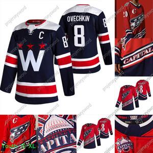 Washington Capitales Alex Ovechkin 2021 Retro Retro Jersey Zdeno Chara Henrik Lundqvist Nickla Backstrom Tom Wilson Braden Holtby Carlson