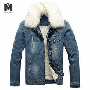 Marstaci 2020 데님 망 재킷 가을 겨울 청바지 자켓 남자 두꺼운 따뜻한 폭격기 군대 망 재킷 코트 자켓 1