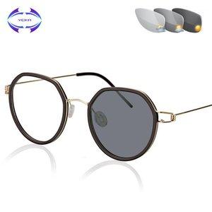 Vcka kadınlar vidasız gözlük güneş kaynaklı renk değişikliği okuma gözlükleri manuel tasarım akıllı çok amaçlı +0.25 - + 4.001