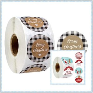 500pcs Round Merry Christmas Thank You Stickers Santa Handmade Seal Labels for Envelope Cards Party Gift Package Scrapbooking De