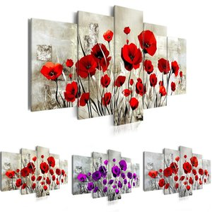 Huacan 5D Diamond Painting Poppy Flower Full Square Diamond Embroidery Multi-picture DIY Home Decoration 0930