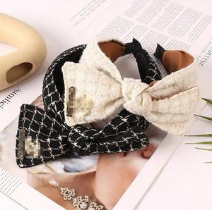 2colors Kore En Yeni Desinger Kadınlar Geniş kenarlı C-Letter Çiçek Retro ilmek Hairband Düğümlü saç bandı Kafa HeadHoop Saç Aksesuarları