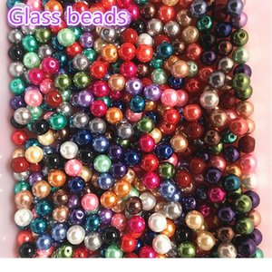 Wholesale 4 6 8 10mm Glass Beads Imitation Pearls Beads Round Pearl Beads For Jewelry Making Diy Bracelet qylySX