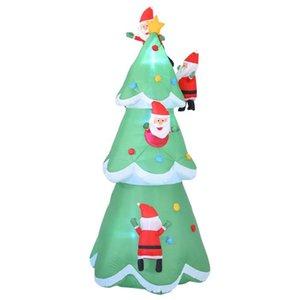 Décorations de Noël Arbre gonflable Arbre Gonflable Holiday Party Holiday Fête LED Jardin Décoration Polyester Navidad Natal Décor 2021