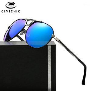 CIVICE CIVICICO CLÁSICO ESPEJO ESPEJO GRABLOS QUE CONDUCE POLARIZA GAFAS DE SOL DE METÁLICO Gafas de gafas Hipster Piloto Fresco Gafas E1901