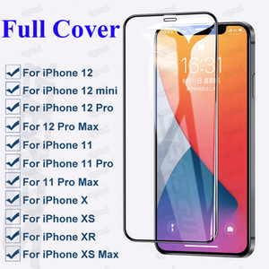 Full Cover Tempered Glass for iPhone 12 Pro Max Protective Screen Protector for iPhone 12 mini SE 2020 XR 8 Plus Samsung A51 A21 Pixel LG