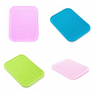 Silikon-Tischsattentisch-Matte-Ofen-Wärme-Isolierkissenbackwäsche Backen-Liner-Bowl-Pad rutschfeste wasserdichte Untersetzer-Spülmatten AAD2671
