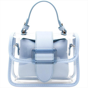 2020 New Transparent Bag Clear Bag Jelly Handbag Cross body Bags For Women Ladies Purse High Quality Designer Bags ins