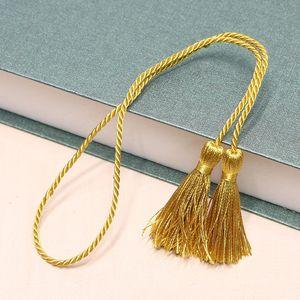 5 unids 54cm Cinta de la cuerda Dos tasseles largos DIY Craft Ropa Accesorios Decoración Fringe Trim Casa Textil Cortina Tassels Colgante H Jllgqy