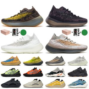 Adidas Yeezy Boost 700 V3 Yeezy 380 700 Kutu Kanye West Kadınlar Erkek Ayakkabı Lmnte Kalsit Glow Yansıtıcı Biber Running Azareth Azael Alvah Eğitmenler Spor ayakkabılar