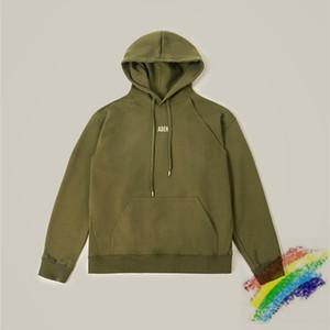 2021FW Hoodie mulheres homens 1 melhor qualidade preta cinza azul exército verde pulôver