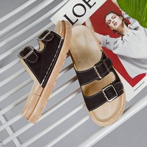 Women's Sandals 2020 Summer New Soft-soled Comfortable Women's Slippers Flat-bottomed Belt Belt Buckle Beach Shoes Hot Sale