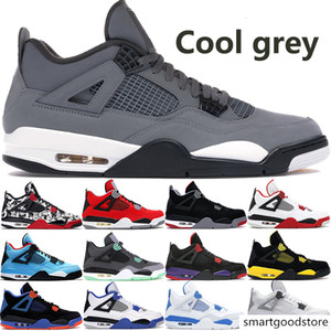 arrival cool grey 4 4s jumpman mens basketball shoes bred green grow Cavs fire red black cat dunk from above men sneakers