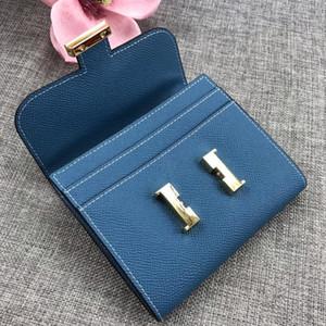Designers Wallet Fashion Women Handbags 100% Real Leather mini handbags purse Cards Bag Black Pink 7 Colors with Box